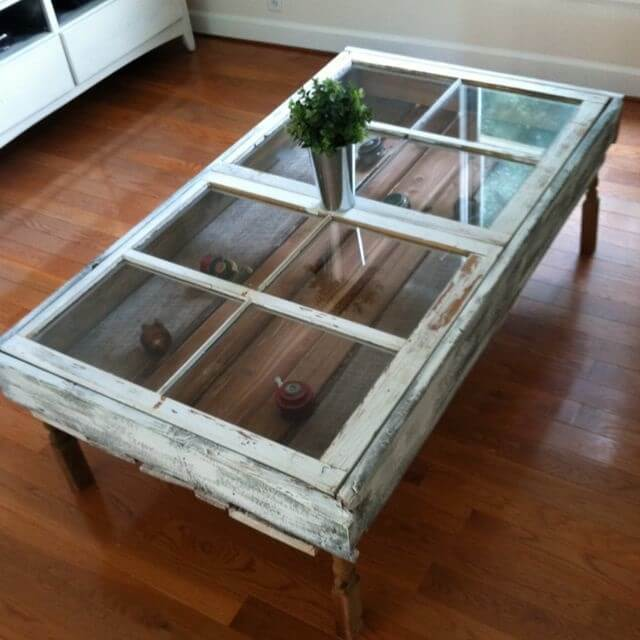 Glass Shadow Box Coffee Table