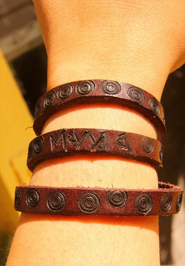 Personalized Leather Bracelet Craft