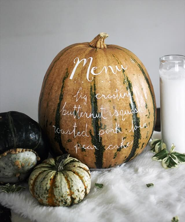 Painted Menu Pumpkin