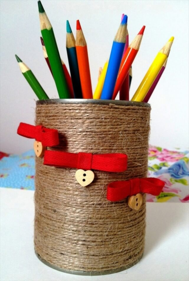 Recyclable-Decorated-Tin-Can-Pen-Holder