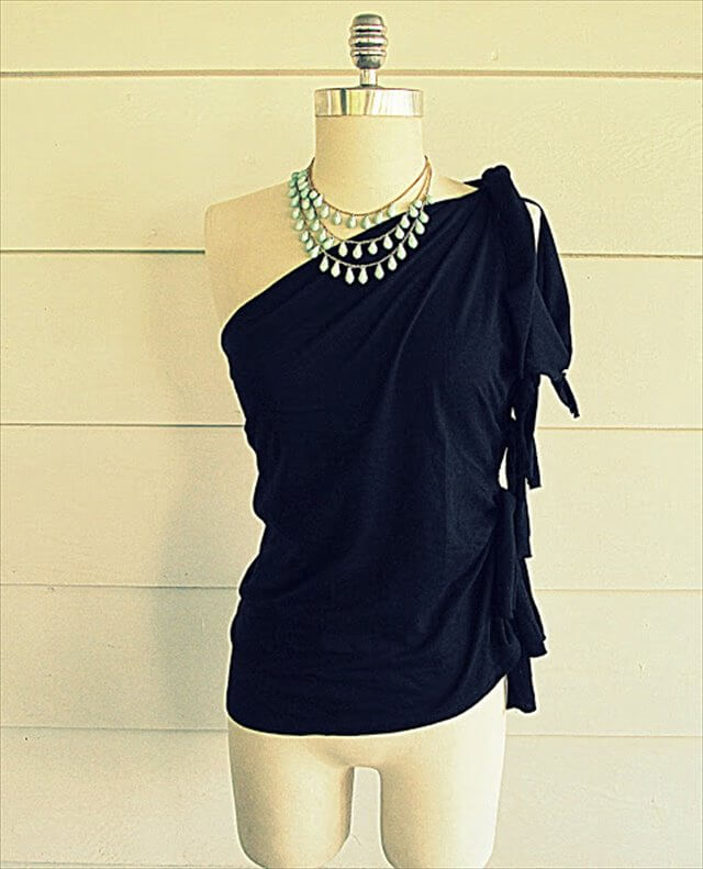 One-Shoulder Knotted Top