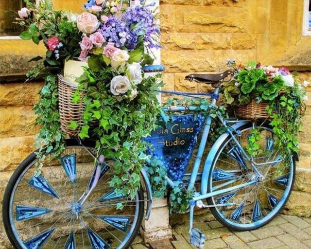 Garden Bicycle Planters