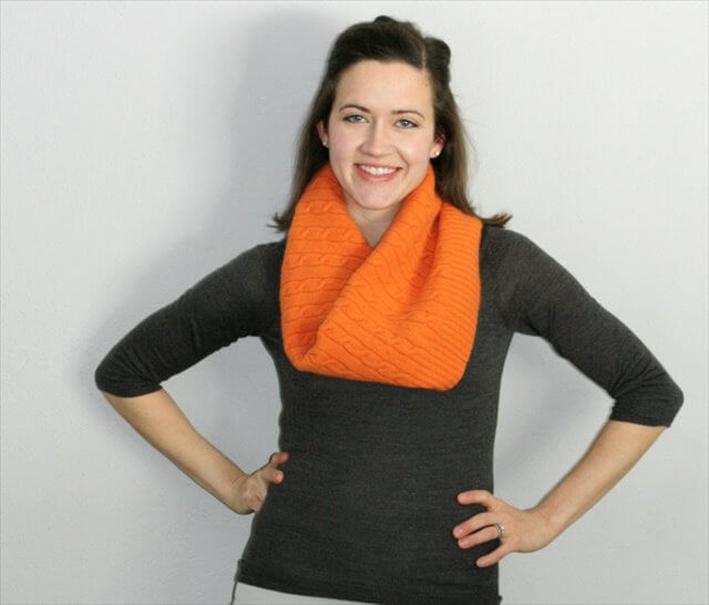 Upcycled Cable Knit Sweater Cowl