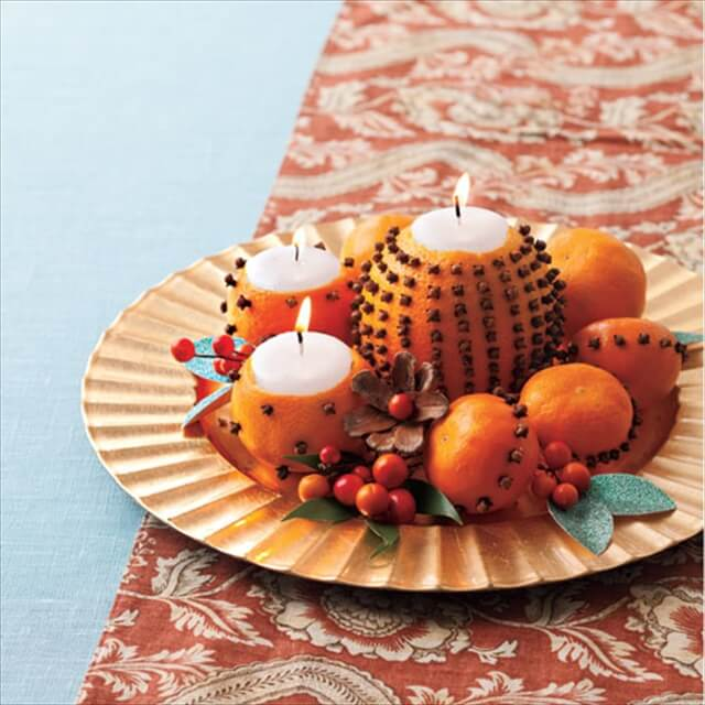 Modern Dining Room Table Candle Centerpiece