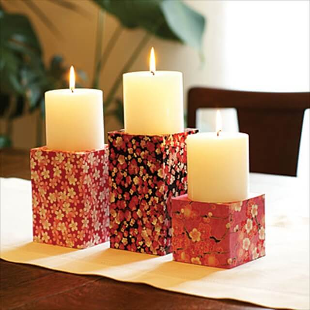 Paper candle holders