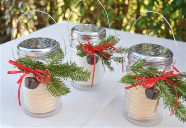 Delightful DIY Christmas Candle Holders
