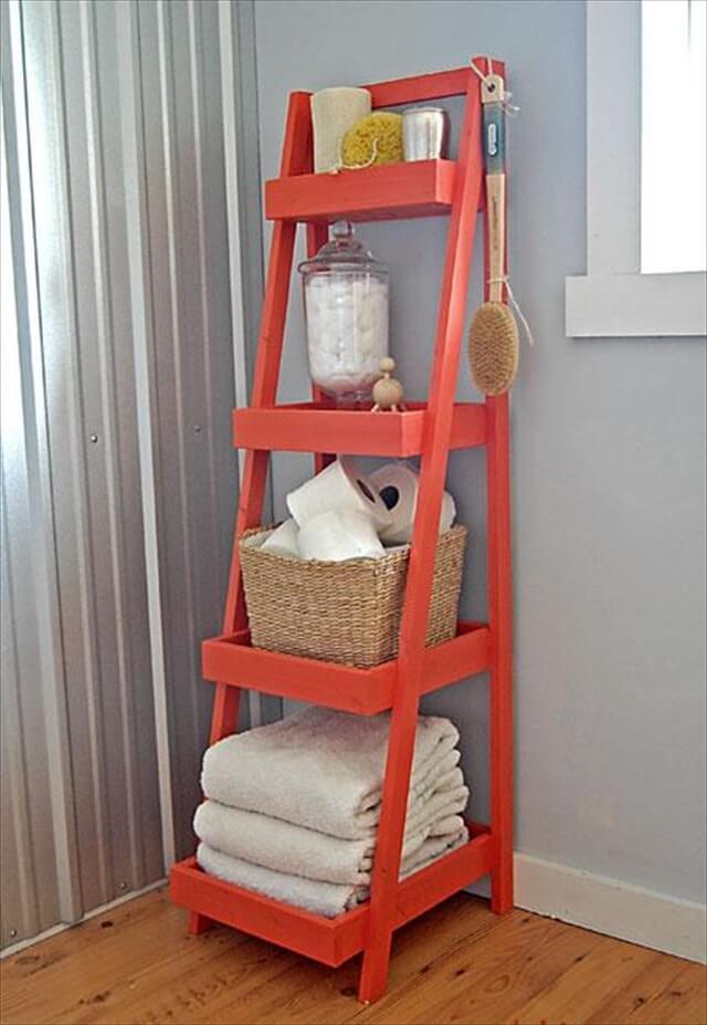 Orange Ladder Shelf