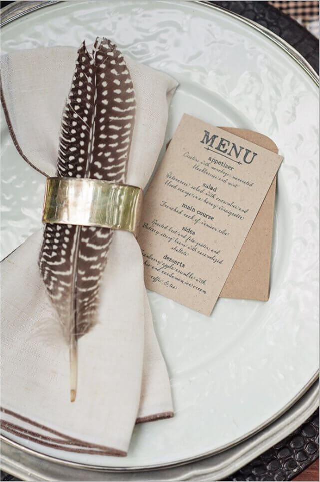 feather-place-setting
