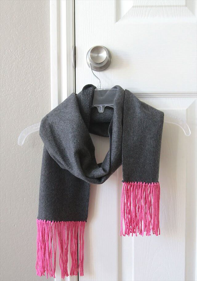 Fleece and Fringe Scarf
