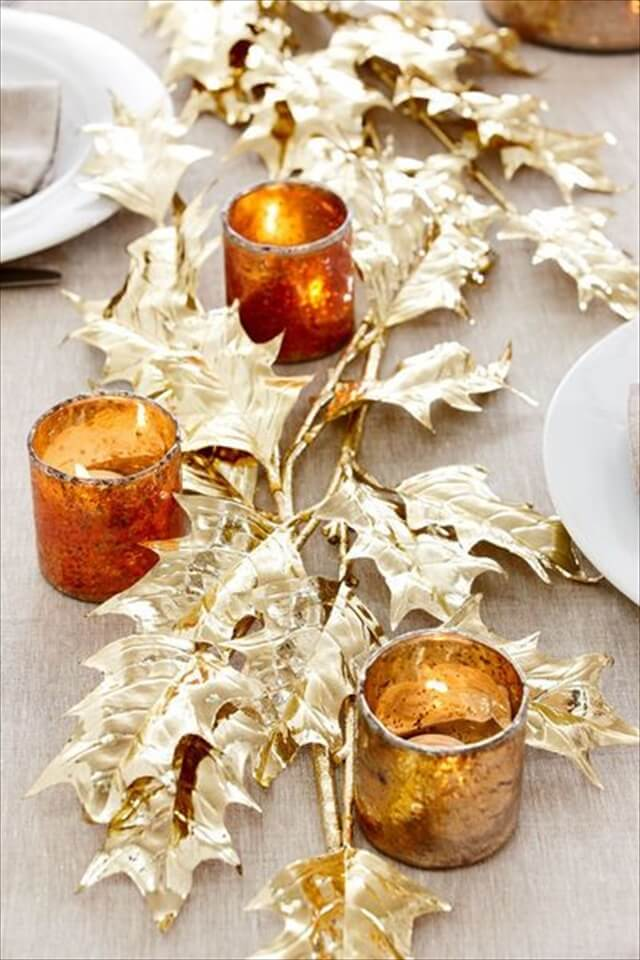 gold-leaves-centerpiece