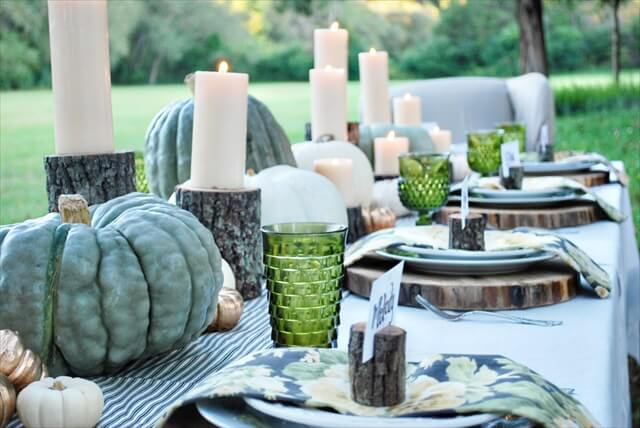 Rustic Backyard Table