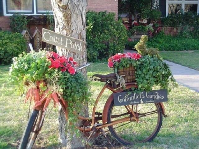 Old Bike Planter