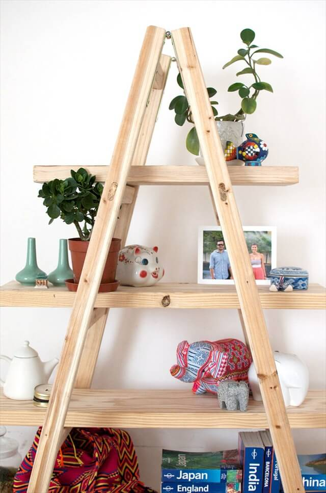 12 Up-cycled Ladder Shelves & Display Ideas | DIY to Make