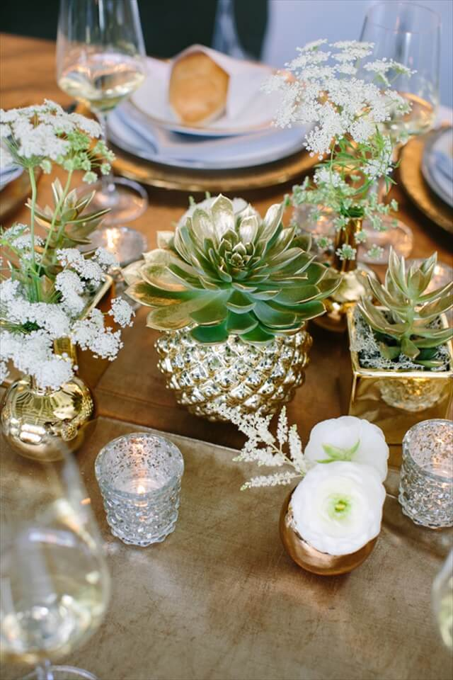 metallic-and-succulent-thanksgiving-table