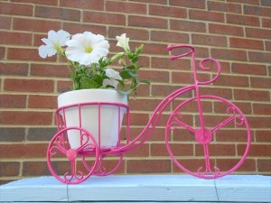 Recycled Bicycle Planter Idea
