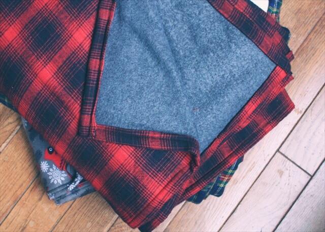 DIY Flannel Throw