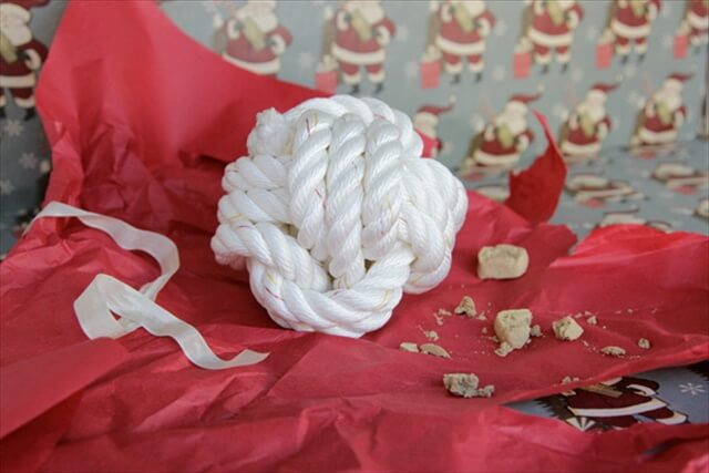 Rope Ball Surprise Dog Toy