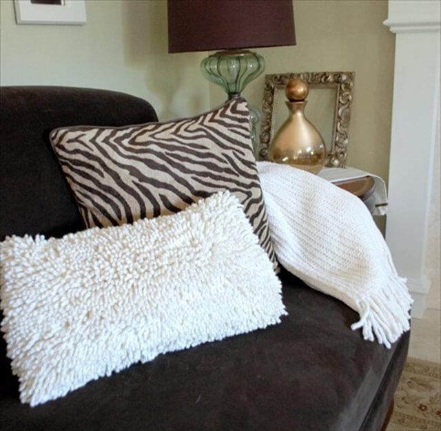 Bath Mat Throw Pillow