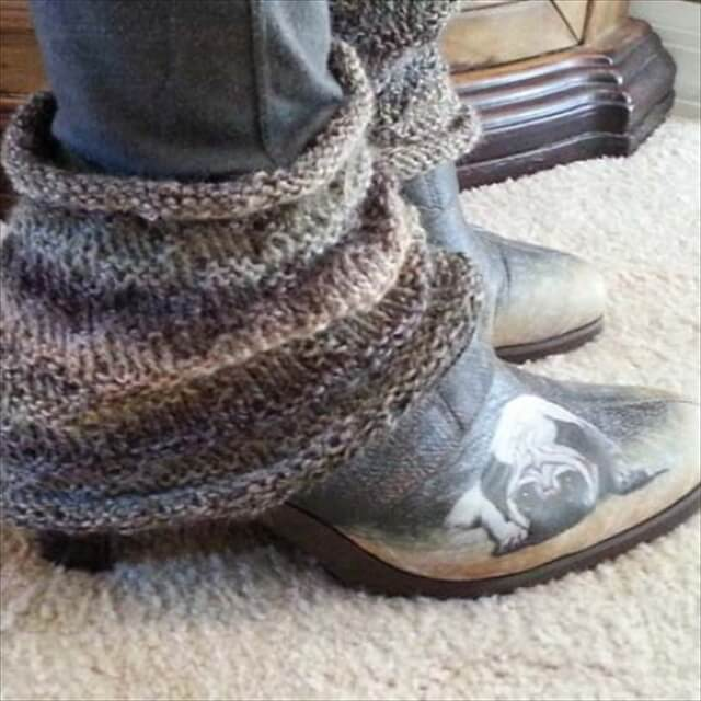brown color ankle warmer