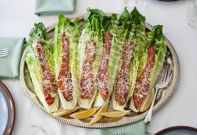 Caesar Wedge with Bacon