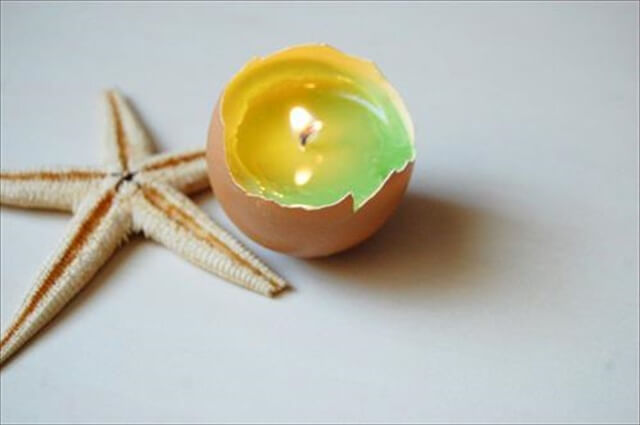 Cool pastel green eggshell diy candle ideas