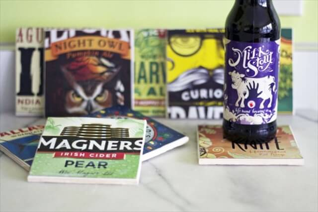 DIY Beer Box Coasters