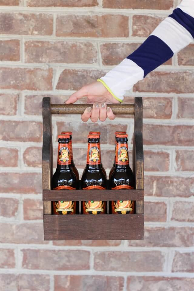 Wooden Beer Carrier