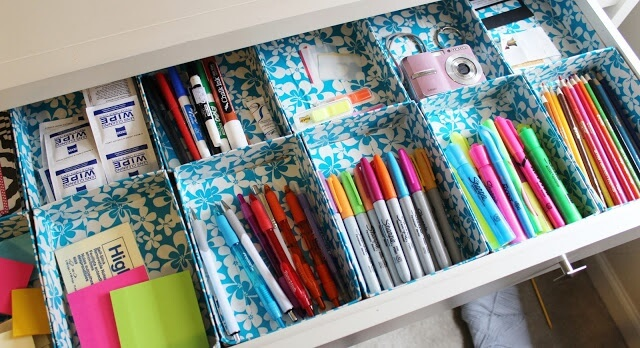 Duct Tape Drawer Organizer