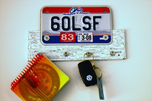 . License Plate Key Hanger