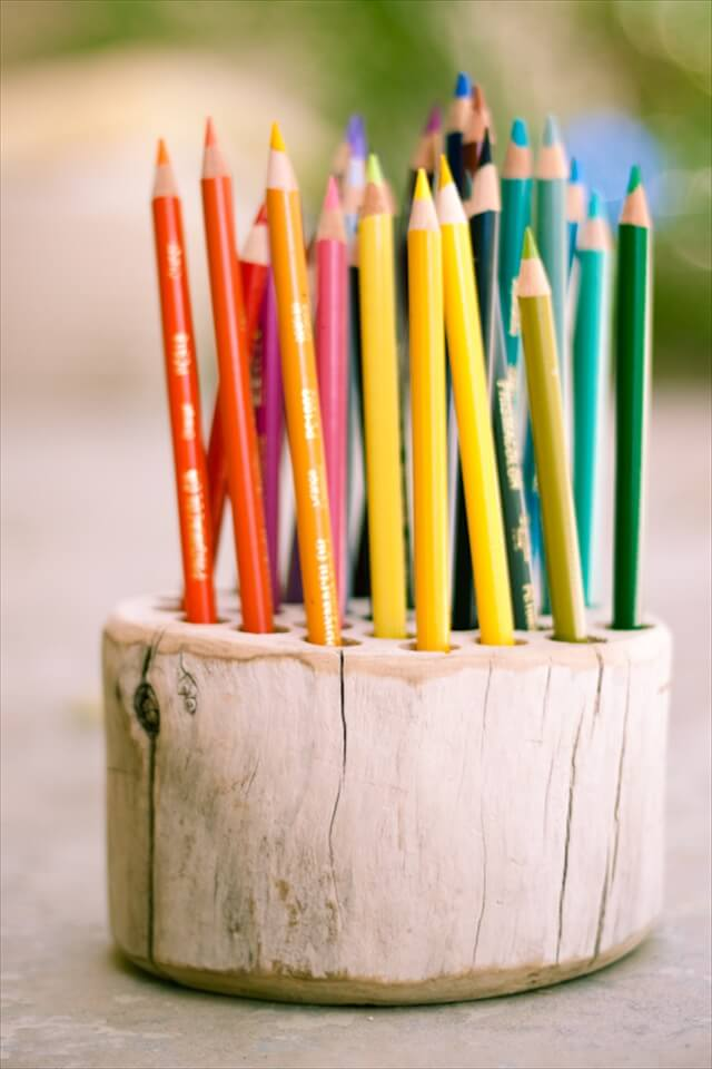 Rustic Pencil Holder