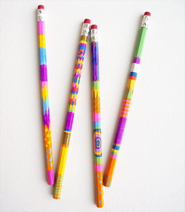 Sharpie Painted Pencils