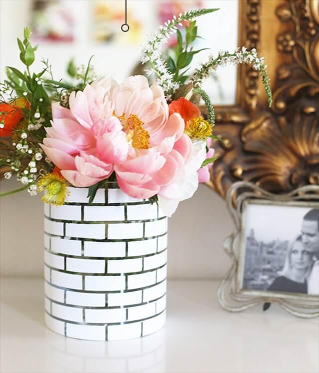 White Brick Vase