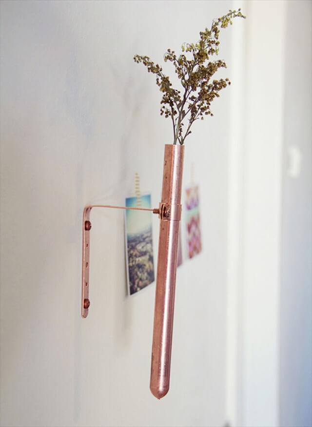 Copper Bud Vases