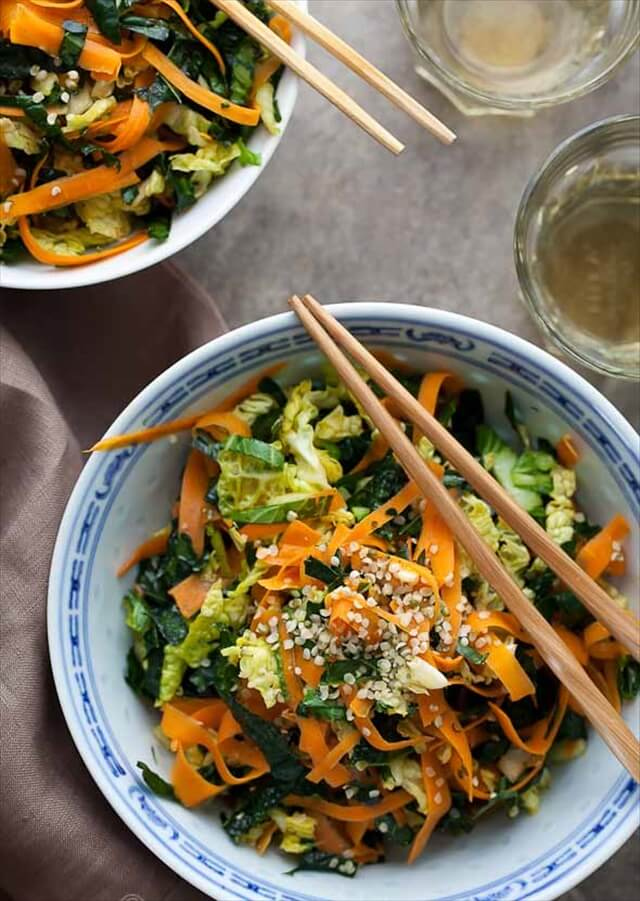 Kale, Cabbage & Carrot