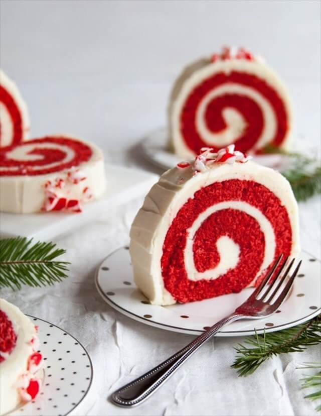 Peppermint Red Velvet Roll