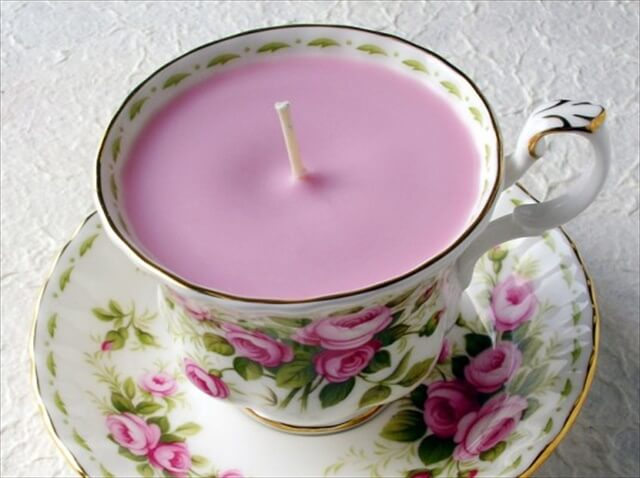 DIY Earl Pink Tea Soy Candle - Cute Gift for Tea Lovers