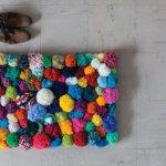 Beautiful pom pom rug