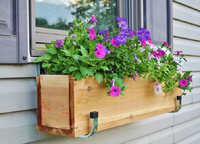 wooden window box