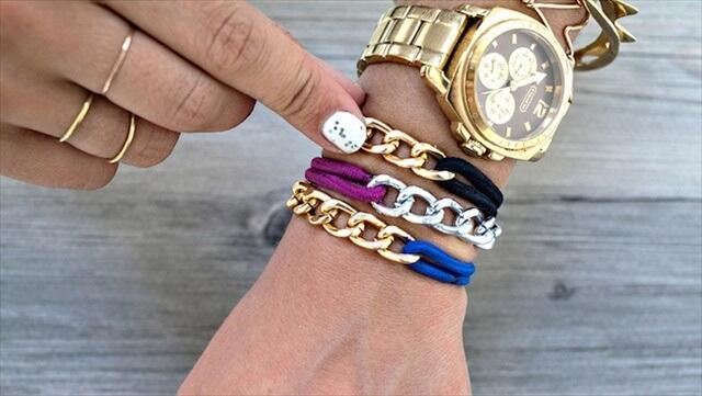 Hair Tie Chain Bracelets