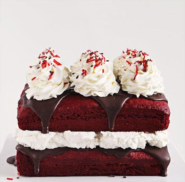 Red Velvet Cake with Peppermint Whip Cream