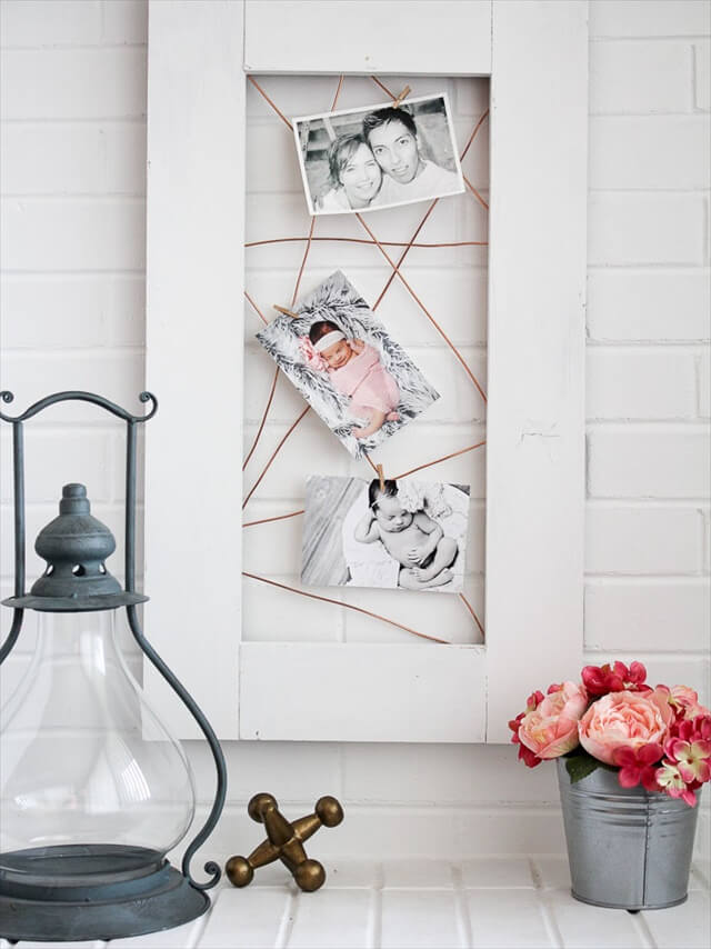 Copper Photo Display