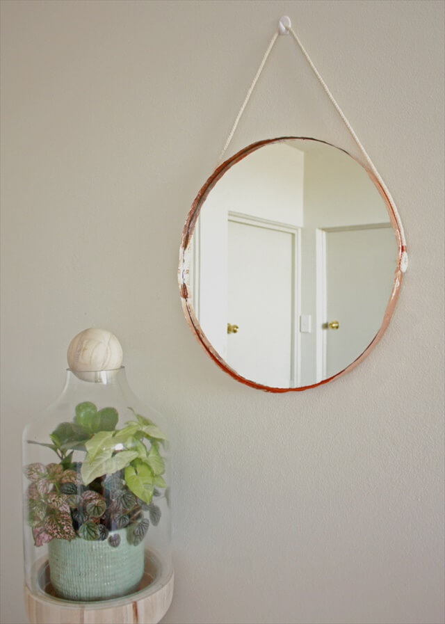 Copper and Rope Mirror