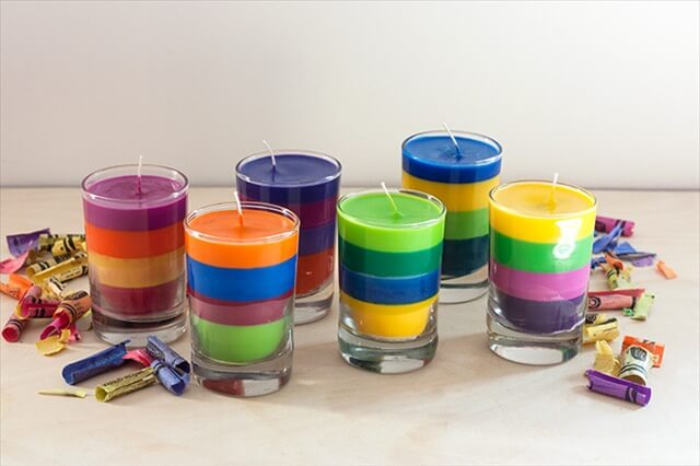 DIY Layered Candle