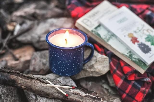 DIY Camp Mug Candle