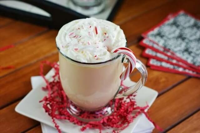 White Chocolate Peppermint Eggnog