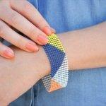 Geometric Color Blocked Bracelet