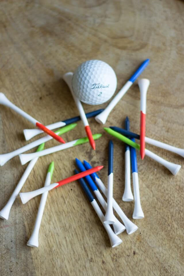 DIY Painted Golf Tees