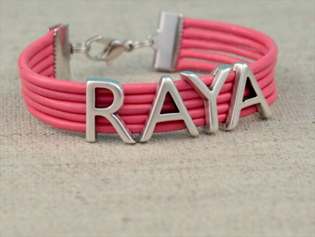 Leather Name Bracelet