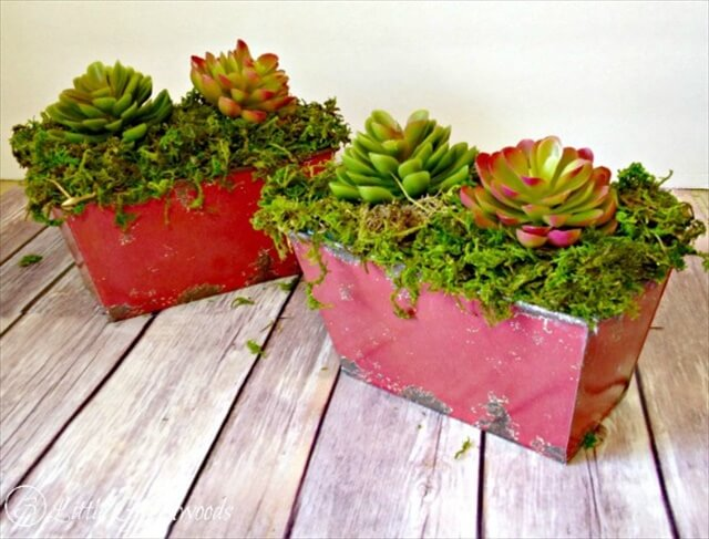 An awesome tutorial for planting faux succulents