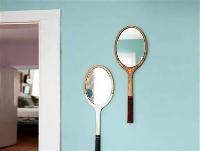 diy tennis rackets mirror